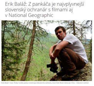 Erik Baláž dnes dostal ocenenie BIELA VRANA